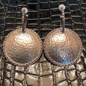 John Hardy Silver Palu Disc Earrings